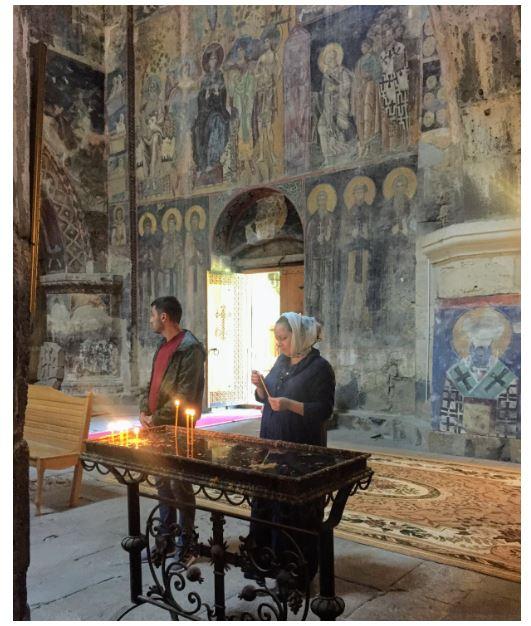 Фрески в монастыре Ахтала