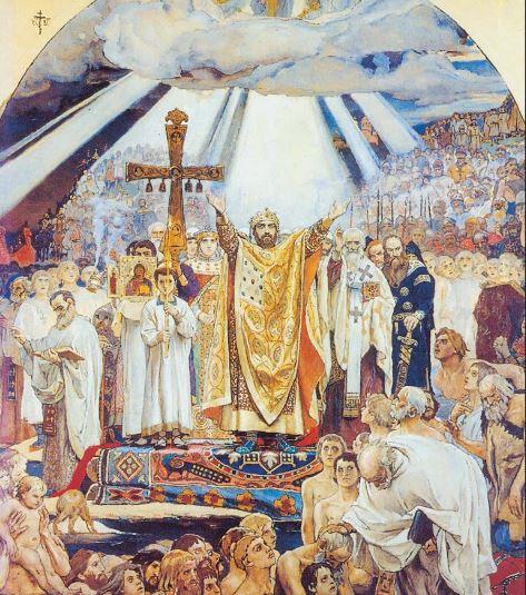 Картины на тему Крещения Руси