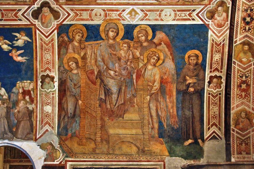 Маэста Чимабуэ в Нижней церкви Ассизи