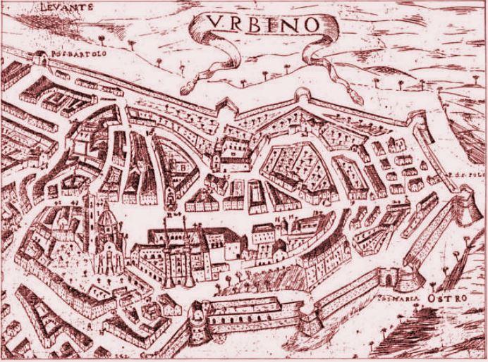 Средневековая карта Урбино