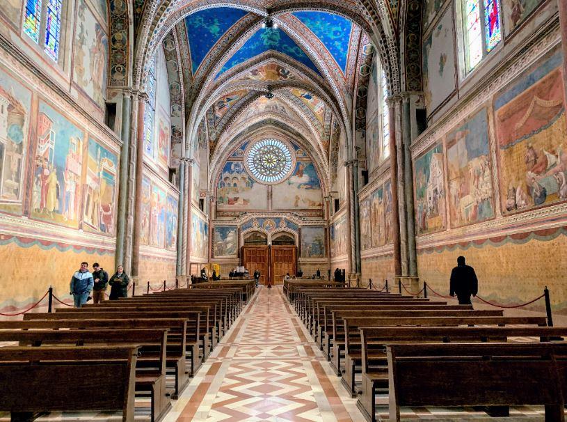 Верхняя церковь, фрески Джотто