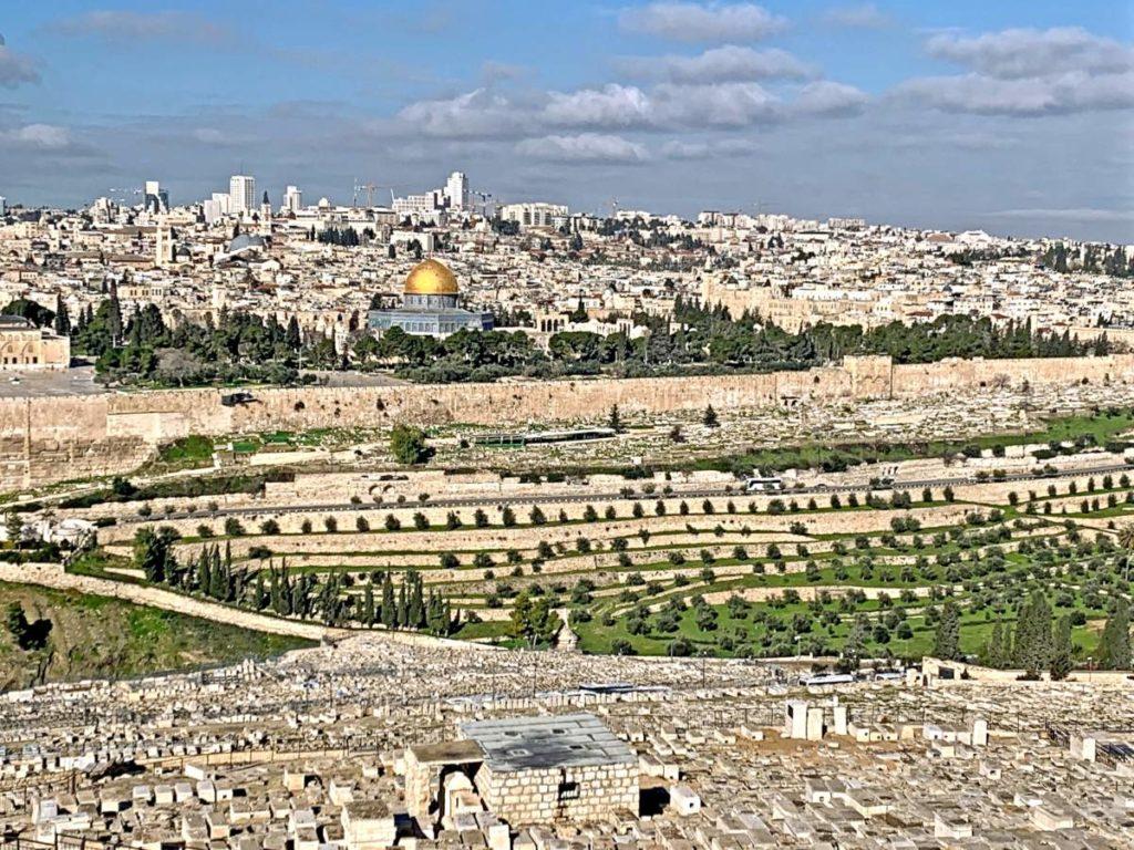 Вид на Иерусалим с обзорной площадки